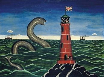 Lighthouse and serpent, 1960s