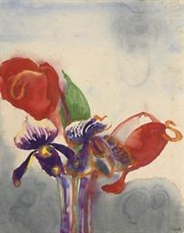 Orchideen und Anthurien