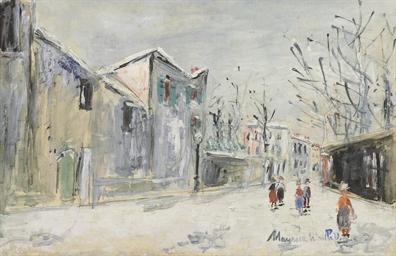 Neige à Montmartre, rue Saint-
