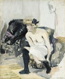 La femme au bas noirs
