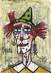 Clown au chapeau vert