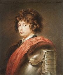Portrait d'homme cuirassé en b