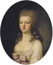 Portrait de femme en buste portant une robe blanche