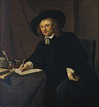 Portrait d'homme à sa table de travail