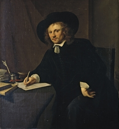 Portrait d'homme à sa table de