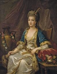 Portrait d'une femme assise vê