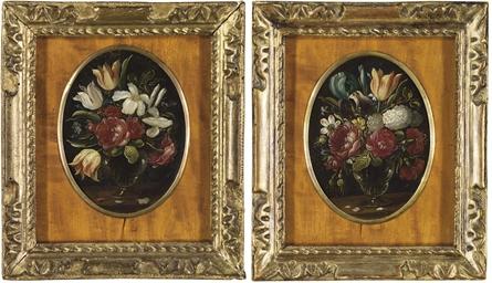 Bouquets de fleurs sur des ent