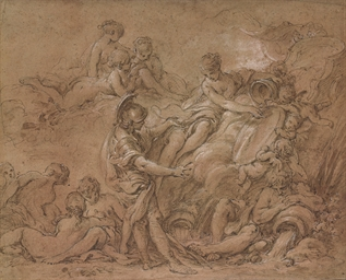 Vénus présentant les armes à E