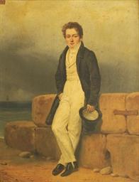 Portrait d'un jeune homme au b