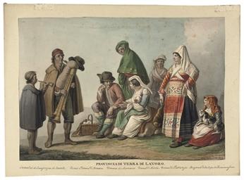 Paysans portant le costume rég