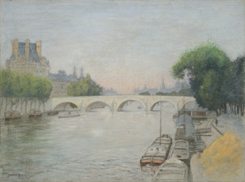 Vue du pont Royal et du Palais