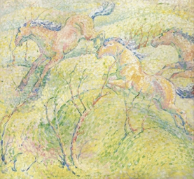 Springende Pferde