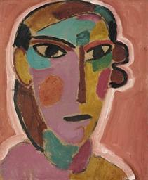 Mystischer Kopf: Frauenkopf au
