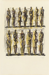 Thirteen Standing Figures from