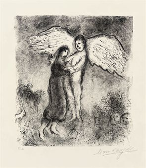 Jacob and the angel (Mourlot 911)