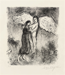 Jacob and the angel (Mourlot 9
