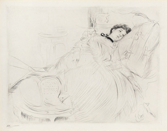 Lady Reclining on a Daybed