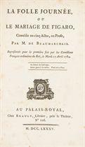 BEAUMARCHAIS, Pierre-Augustin Caron de (1732-1799). La Folle journée ou Le Mariage de Figaro. S.l. [Paris]: Ruault, 1785.