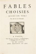 LA FONTAINE, Jean de (1621-1695). Fables choisies mises en vers. Paris: Denys Thierry, 1668.