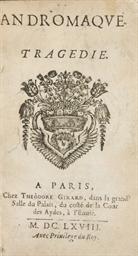 RACINE, Jean (1639-1699). Andr