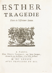 RACINE, Jean (1639-1699). Esth