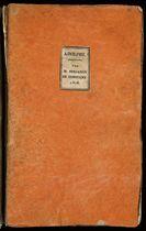 CONSTANT, Benjamin (1767-1830). Adolphe, Anecdote trouvée dans les papiers d'un inconnu. Paris: Crapelet pour Treuttel et Würtz; Londres: Colburn, 1816.