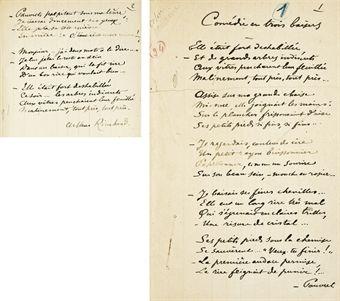 RIMBAUD, Arthur (1854-1891). Poésies complètes avec préface de Paul Verlaine et notes de l'éditeur. Paris: Léon Vanier, 1895.