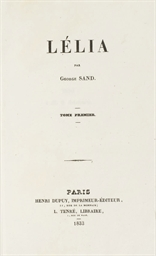 SAND, George (1804-1876). Léli