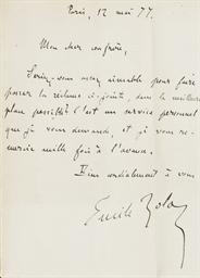 ZOLA, Émile (1840-1902). Les M
