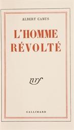 CAMUS, Albert (1913-1960). L'H