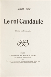 GIDE, André (1869-1951). Le Ro