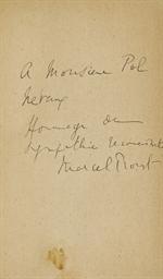 PROUST, Marcel (1871-1922). À