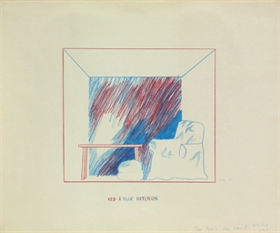 Untitled (Red & Blue Interior)