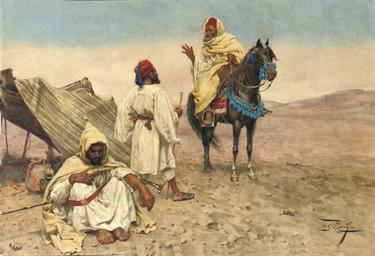 A desert encampment