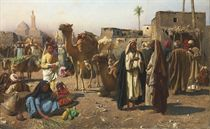 Merchants in a North African market