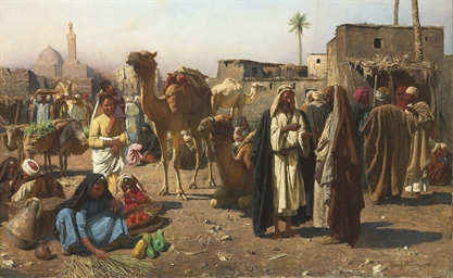 Merchants in a North African m