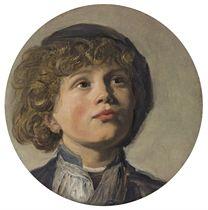 The head of a boy