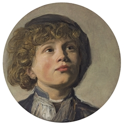 The head of a boy