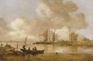 A river estuary with Dutch shi
