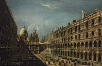 The Courtyard of the Doge's Palace, Venice, with the Scala dei Giganti, Saint Mark's Basilica beyond