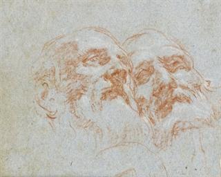 Two heads of bearded men