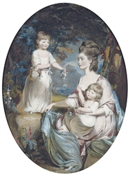 Group portrait of Emma, Counte