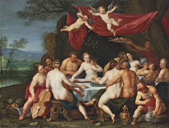 The wedding feast of Bacchus a