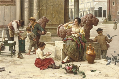 A Venetian ice cream seller
