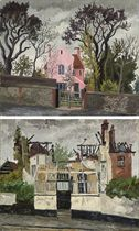 Dedham Painting School Before the Fire; and After the Fire