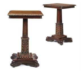 A PAIR OF INDIAN PADOUK TABLES