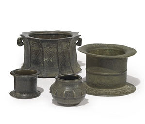 A GROUP OF FOUR BRONZE ENGRAVE