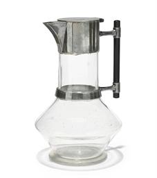 A VICTORIAN GLASS CLARET JUG
