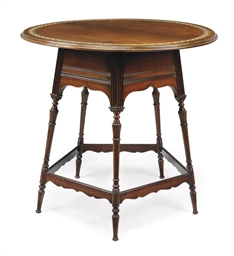 A VICTORIAN ROSEWOOD AND BONE-