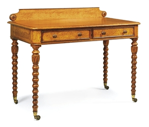 A GEORGE IV OAK WRITING TABLE